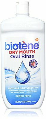 2 Pack Biotene Dry Mouth Oral Rinse for Dry Mouth Symptoms 33.8 FL OZ Each