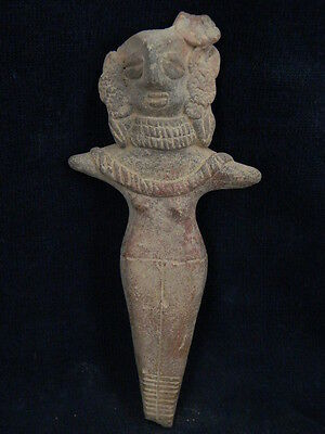Ancient Large Size Teracotta Mother Goddess Indus Valley 600 BC   #TR677