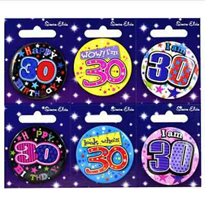 Small 30 30 ADULT MILESTONE Thirty Birthday Badges ALL AGES available 30 30