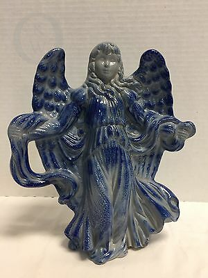 Eldreth Pottery* Salt Glazed*Large Angel*Primitive  16306F