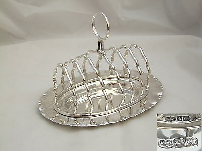 Rare Victorian Hm Sterling Silver 7 Bar Toast Rack 1900