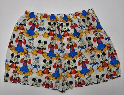 Vintage Disney Parks Boxer Shorts XL Mickey Pluto Donald See Hear Speak No Evil