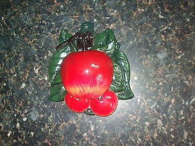 Vintage cast iron door knocker Apple