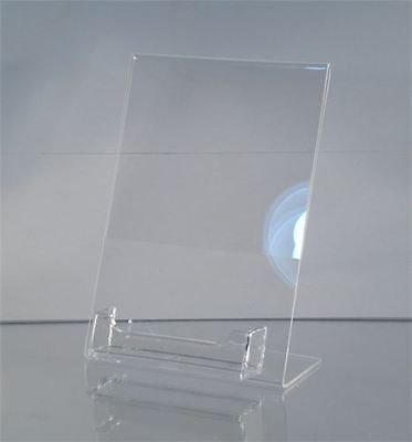 NEW Acrylic 5 x 7 Slanted Sign Holder with Business Card