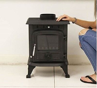 Small Cast Iron Stove Multifuel Woodburning Fireplace Wood Log Heating Burner