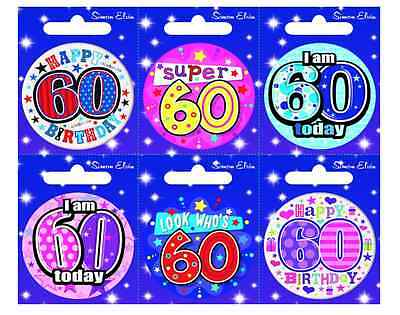 Small 60 60 ADULT MILESTONE Sixty Birthday Badges ALL AGES available 60 60
