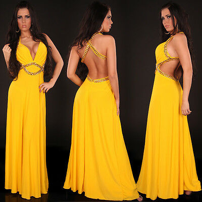 Top Women's Maxi Dress Clubbing Party Ladies Backless Long Blouse Size 6 8 10 12