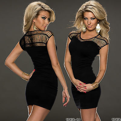 Sexy Top Women Clubbing Mini Dress Ladies Party Mesh Net Blouse Size 6 8 10 12