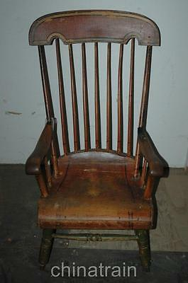 Antique Circa 1850 Boston Rocker Rocking Chair Original Paint & Stenciling