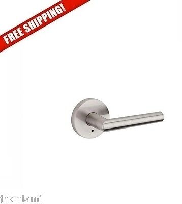 NEW Kwikset Milan Satin Nickel Bed Bath Lever Set