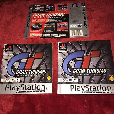 cover artwork and manual for GRAN TURISMO ps1 NO GAME DISC INCLUDED