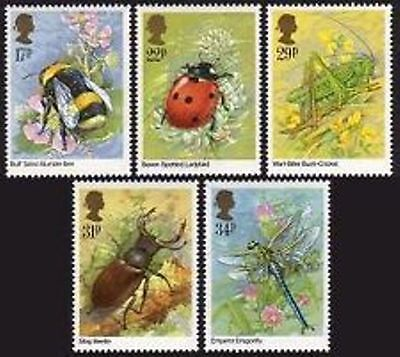 GB MNH Scott 1098-1102, 1985 Insects complete set of 5