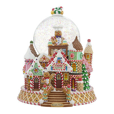 Christopher Radko Gingerbread Factory snowglobe