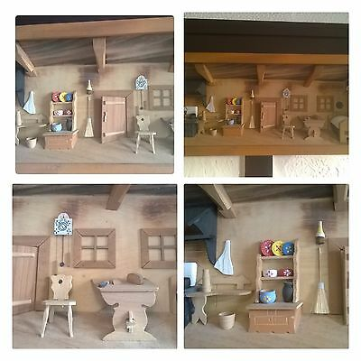 3D .... Wall Ornament Hanging House Set Collectable Plaque Room DIORAMA Picture