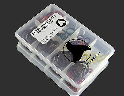 Planet Eclipse Etek 1 / 2 3x color coded o-ring rebuild kit by Flasc Paintballl