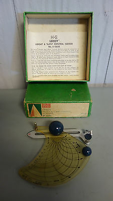 Vintage Co K&E LEROY Height & Slant Control Scriber No. 610020 KEUFFEL & ESSER