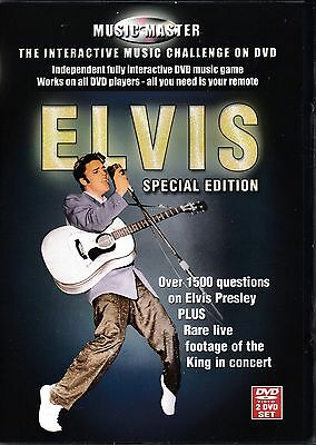 USED 2DVD // ELVIS PRESLEY The Interactive Music Challenge // 1500 QUESTION QUIZ