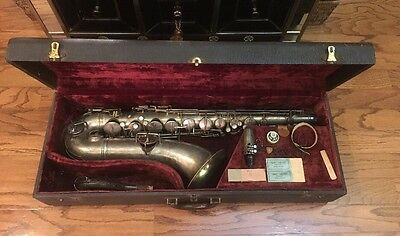 Awesome Vintage Pan-American Saxophone With Content and Carrying Case