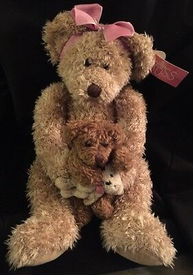 "14"" Plush Russ Berrie Teddy Bear Marmie Mommy Baby Item 100329"