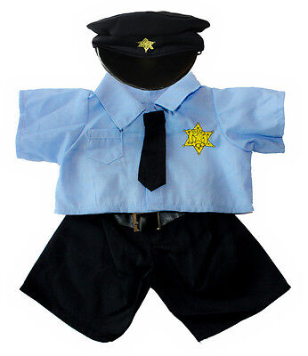 """Policeman Outfit 16""""(40cm ) will fit Build a Bear & Stufflers Bears"""