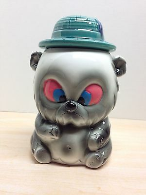 Vintage Bull Dog Cookie Jar Puppy Made in Japan Rare