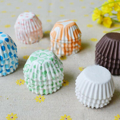 300 Pcs Colorful Mini Paper Cake Cup Liners Baking Cupcake Cases Muffin Cake