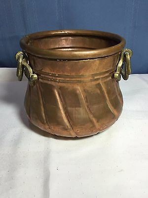 Solid Copper Planter, Urn Made in Turkey