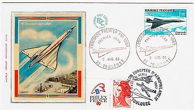 Fdc-Spersonic Concorde-The Anglo-French-Premier Vol-Philexfrance-2 Mars 1969