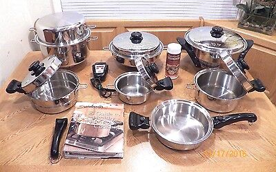 SALADMASTER 316L Surgical Stainless Versa Tec 7Ply Cookware Electric Skillet USA