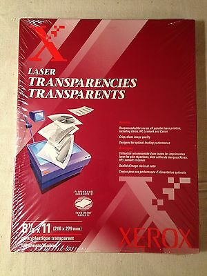 XEROX 3R3117 Laser Transparencies for laser printers 100 sheets sealed pkg