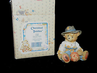 "Enesco Cherished Teddies Gary ""scarecrow Figurine"" 912786 With Box"