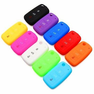 Car Remote Silicone Key Case Protective For Volkswagen polo passat b5 golf ♫