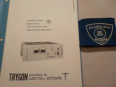 Trygon Sr20-40 High Efficiency Series Instruction Manual