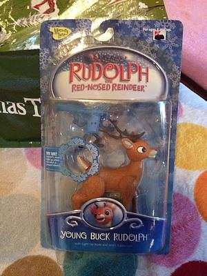 Memory Lane Young Buck Rudolph Light Up Nose & Misfit Squirt Gun Figures New