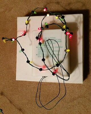 Dept 56 Village String of 25 Mini Brite Lights #52256 2AA or Adapter Compatible