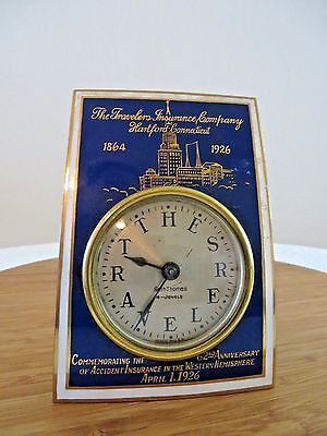 Vintage Seth Thomas Clock 1926 The Travelers Insurance Co Anniversary Clock Rare