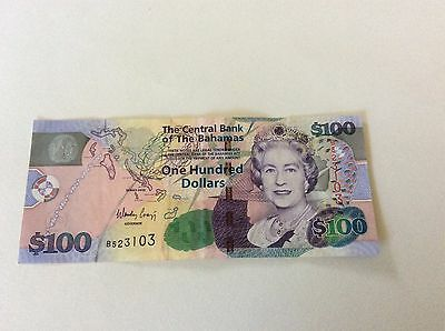 Bahamas 2009 P76 $100 Note Qeii Condition: Vf Best Prices On Ebay!