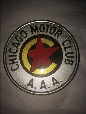 Illinois Chicago Motor Club AAA license plate topper