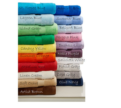 RALPH LAUREN Home Wescott Bath, Hand and Washcloth Towels Multi-Colors Cotton