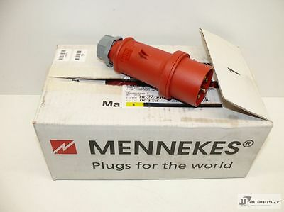 NEW - ORIGINAL PACKAGING 9x Mennekes 3P+N+A Plug per TOP 5-pin 16A 6h 308V IPX4