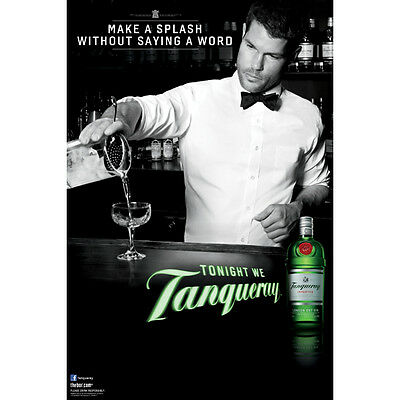 Tanqueray Splash Poster 24 By 36  New