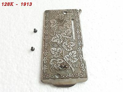 Antique Singer Grapes 128K /1913~Sewing Machine Front Nose Cover Plate w/ screws