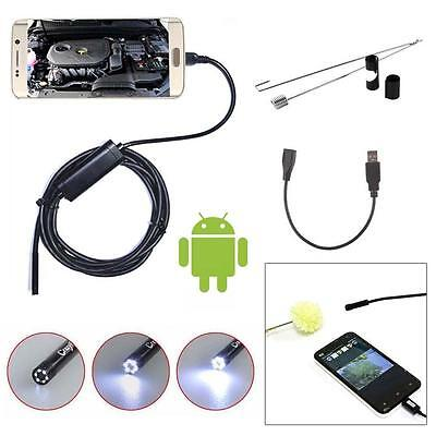 2M Android 6LED 7mm Lens Endoscope Waterproof Inspection Borescope Camera USB YU