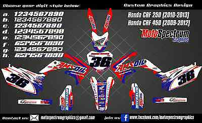 Honda CRF 250 450 2009 2010 2011 2012  graphics kit decals stickers