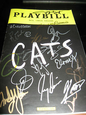 Cats Broadway autographed playbill WOW !