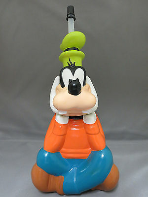 Disney Goofy Shaped Water Bottle With Straw Park Souvenir Never Used Plastic