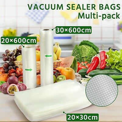 10X Vacuum Food Sealer Roll Saver Seal Bag Storage Commercial Heat Grade 6MX28cm