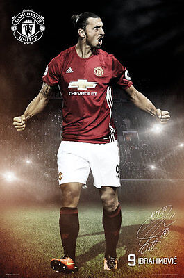 Manchester United FC Poster - Ibrahimovic 16/17 - New MU Football poster SP1375