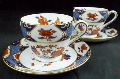 Spode SHIMA 2 Cup & Saucer Sets Bone China Y8540 GREAT CONDITION