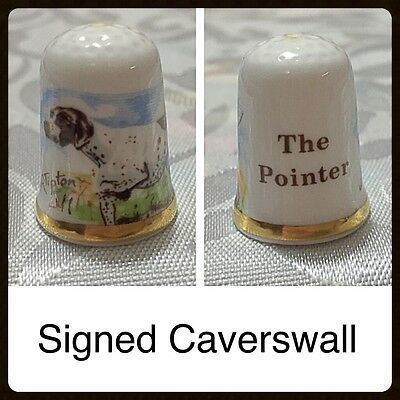 Caverswall Thimble - The Pointer (Dog)